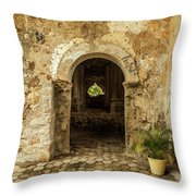Church Ruins At El Rosario, Sinaloa Throw Pillow