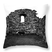 Church Ruins Hvalsey Throw Pillow