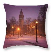 Church Sidewalk Throw Pillow