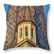 Church Spire Details - Romania Throw Pillow