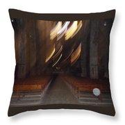 church Spirit Orb Palma de Mallorca Throw Pillow