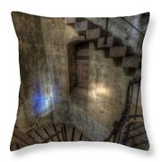 Church Stairs Above Throw Pillow