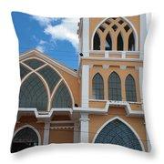 Church Steeple In Ibarra Throw Pillow
