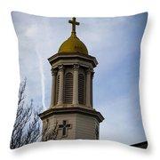 Church Steeple Nashville Throw Pillow