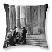 Church Step Lovers Throw Pillow