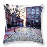 Church Street Cobblestones - Philadelphia Throw Pillow by Bill Cannon