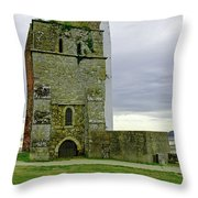 Church Tower - Remains Of St Helens Church Throw Pillow