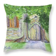 Church Trees Throw Pillow