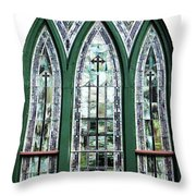 Church Window Throw Pillow
