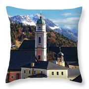 Churches In Berchtesgaden Throw Pillow