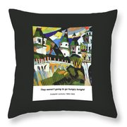 Churches Throw Pillow