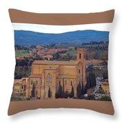 Churches Of Sienna Throw Pillow