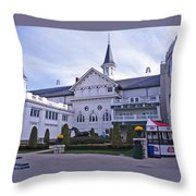Churchill Downs Paddock Area Behind The Twin Spires Throw Pillow