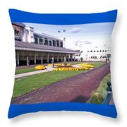 Churchill Downs Paddock Area Throw Pillow