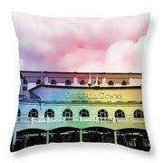 Churchill Downs Silk Throw Pillow