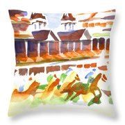 Churchill Downs Watercolor Throw Pillow