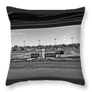 Churchill Downs' Winner's Circle In Black And White Throw Pillow