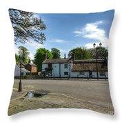 Churchtown Village After The Rain Throw Pillow