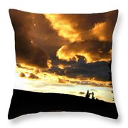 Churning Clouds 1 Throw Pillow