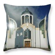 Church Of St. Peter And Paul, Ukraine Throw Pillow