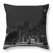Cibeles Square Madrid Spain Throw Pillow