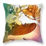 Cicadas Throw Pillow