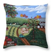 Cider Valley Throw Pillow