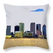 Cigar City Skyline Throw Pillow