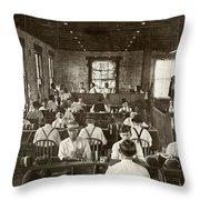 Cigar Factory, 1909 Throw Pillow