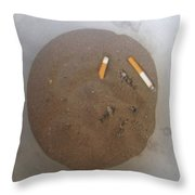 Cigarette's Grave Yard Throw Pillow
