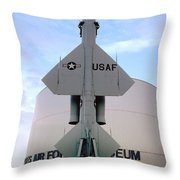 Cim-10a Bomarc Missile At The Air Force Museum Dayton Ohio Throw Pillow