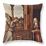 Cima Da Conegliano The Annunciation Throw Pillow