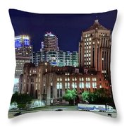Cinci From The Opposite Side Throw Pillow