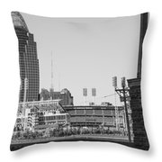 Cincinnati And Building  Throw Pillow
