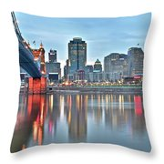 Cincinnati At Dusk Throw Pillow