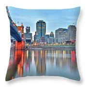 Cincinnati At Ground Level Throw Pillow
