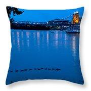 Cincinnati Belle Suspension Bridge Throw Pillow
