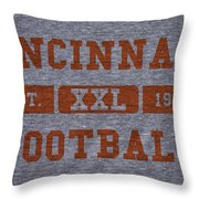 Cincinnati Bengals Retro Shirt Throw Pillow