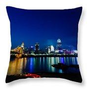 Cincinnati Boom Throw Pillow
