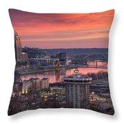 Cincinnati Devou Park Throw Pillow