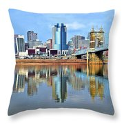 Cincinnati Ohio Times Two Throw Pillow