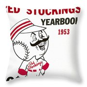 Cincinnati  Reds 1953 Yearbook Throw Pillow
