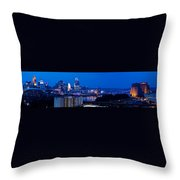 Cincinnati Skyline At Night Throw Pillow