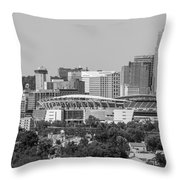 Cincinnati Skyline From Above  Throw Pillow