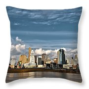 Cincinnati Skyline Hdr Throw Pillow