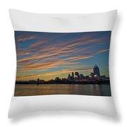 Cincinnati Sunset Throw Pillow