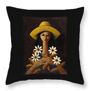 Cinco Margaritas Throw Pillow by Oscar Ortiz
