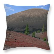Cinder Cone And Painted Sands Throw Pillow