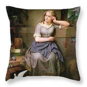 Cinderella And The Birds Throw Pillow