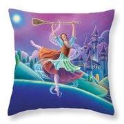 Cinderella Throw Pillow by Anne Wertheim